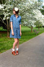 White-forever-21-accessories-blue-old-navy-dress-white-urban-outfitters-sock