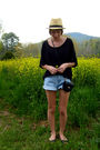 Charlotte-russe-hat-wet-seal-top-vintage-calvin-klein-shorts-old-navy-shoe