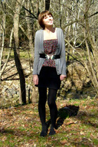 gray J Crew coat - black Urban Outfitters dress - black Urban Outfitters skirt -