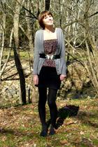 gray J Crew coat - black Urban Outfitters dress - black Urban Outfitters skirt -