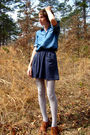 Blue-old-navy-shirt-gray-urban-outfitters-skirt-gray-target-tights-brown-f