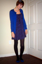 blue Gap cardigan - black Urban Outfitters dress - gray Anthropologie accessorie