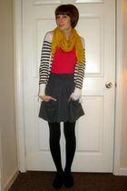 white Old Navy cardigan - gray Urban Outfitters skirt - gold Urban Outfitters sc