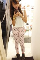 bubble gum Topshop jeans - white Modparade top