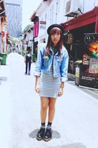 Guess jacket - Dr marts shoes - Modparade dress - Topman socks