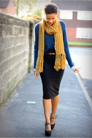 new look scarf - new look heels - River Island skirt