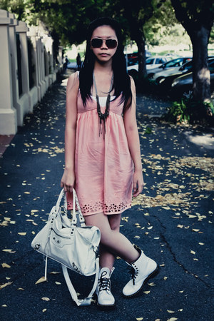 Roxy dress - doc martens boots - balenciaga bag - Witchery necklace