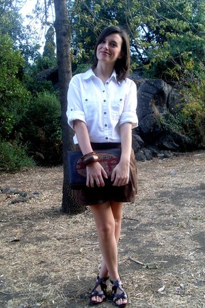Promod sandals - H&M shirt - pull&bear bag - Stradivarius shorts
