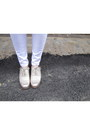 White-white-skinny-cotton-on-jeans-silver-brogues-cole-han-shoes