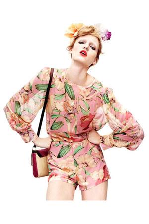 peach floral chiffon Flydoll shorts