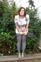 Etic - Bershka shorts - silver Nine West shoes - tights - gray moa purse