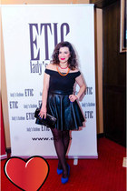 black chicnova dress - blue SuperPantofiro heels - JEWELRY BOX necklace