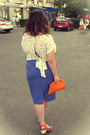 Light-orange-meli-melo-purse-purple-skirt-carrot-orange-oasap-sandals