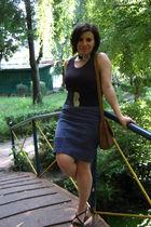 blue - black shirt - black BURP-handmade romanian brand belt - - brown Terranova