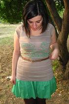 t-shirt - - Terranova - brown tights -