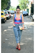 blue Lovelyshoes swimwear - ruby red nissa wedges