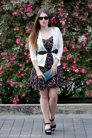 brown leather Ruelala belt - floral pattern kohls dress
