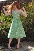 green new look dress - white vivienne westwood for melissa shoes