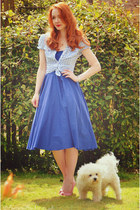 blue asos dress - blue H&M shirt
