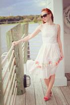 white River Island dress - light pink vivienne westwood for melissa heels