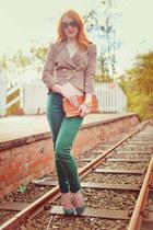 new look jacket - Topshop pumps - H&M pants
