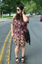 black Target dress - black H&M bag - black Chicwish sunglasses