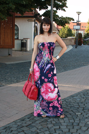 Bebe dress - OASAP bag - OASAP bracelet - Deichmann sandals