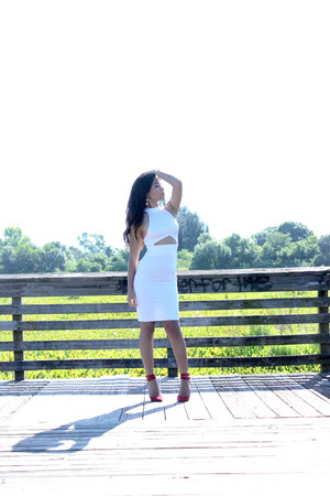 Sunset45 bracelet - Charlotte Russe shoes - OASAP dress