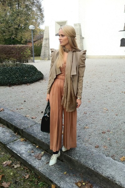 MACHIMA blazer - silk MACHIMA scarf - Mango bag - H&M Trend jumper