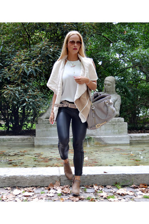Forever 21 boots - aigner bag - faux leather Calzedonia pants - Bershka vest