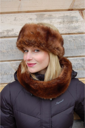 bronze Fosi Originals hat - bronze Fosi Originals scarf
