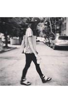 black bones Jeffrey Campbell shoes - black velvet Nordstrom leggings