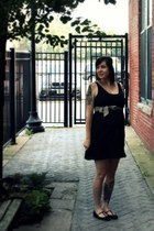 modcloth earrings - Urban Outfitters shoes - Old Navy dress - H&M belt