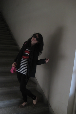 Koton blazer - H&M t-shirt - black Zara tights - H&M purse