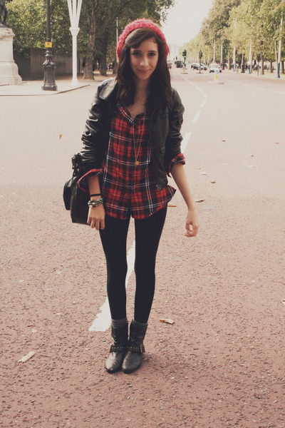 shirt - jacket - boots - hat