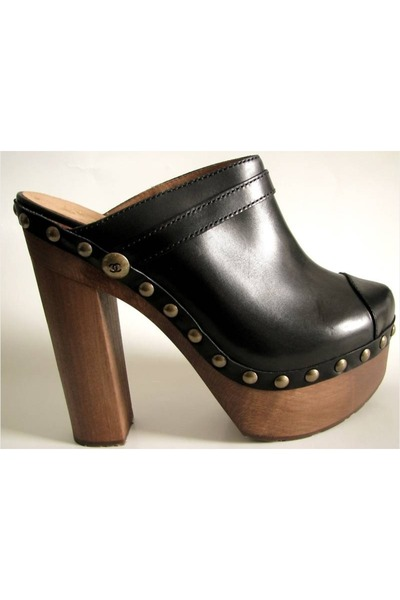 black Chanel shoes - brown Jeffrey Campbell shoes