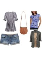 gray American Eagle shirt - brown Forever 21 purse - blue Target shirt - blue Fo