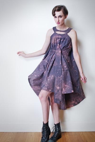 purple emily ryan dress