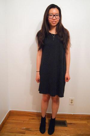 black Jeffrey Campbell boots - black Cheap Monday dress