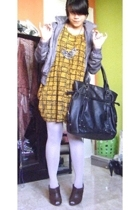 Zara jacket - bloop dress - Sigarasi ShopHop necklace - Topshop purse - unbrande