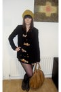 Black-fruit-shopblanaidcom-dress-mustard-wool-gift-hat-black-thrifted-blazer