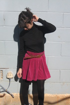 Zara top - kenzo kids skirt - vintage belt