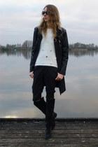 navy Lartigiana Viareggina boots - navy Chic et Jeune jacket