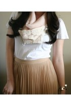 AnnikaLikes scarf - Gap shirt - JCrew skirt