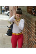 Gap belt - JCrew shirt - Michael Kors bag - JCrew necklace