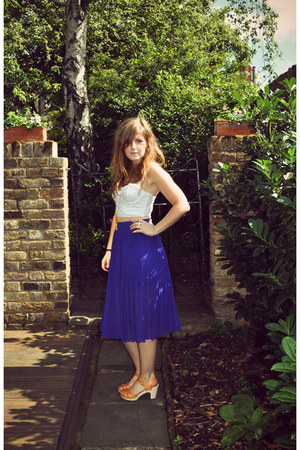 Swedish Hasbeens sandals - Topshop skirt - Topshop bra