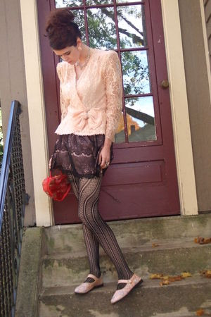Target skirt - jacket - Betsey Johnson stockings - purse - shoes - accessories