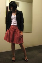 BCBG skirt - Old Navy top - To The Max blazer - Ben Amun necklace - Marc by Marc