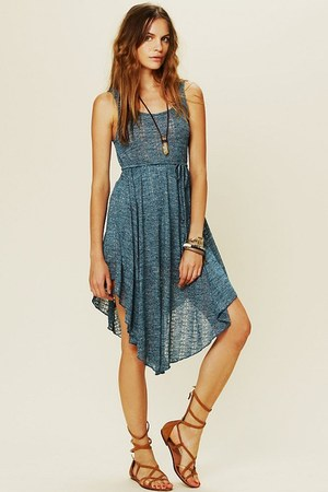 turquoise blue free people dress