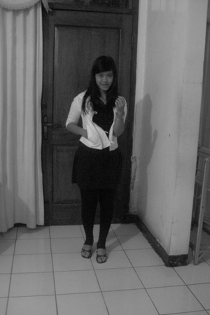 black and one white
